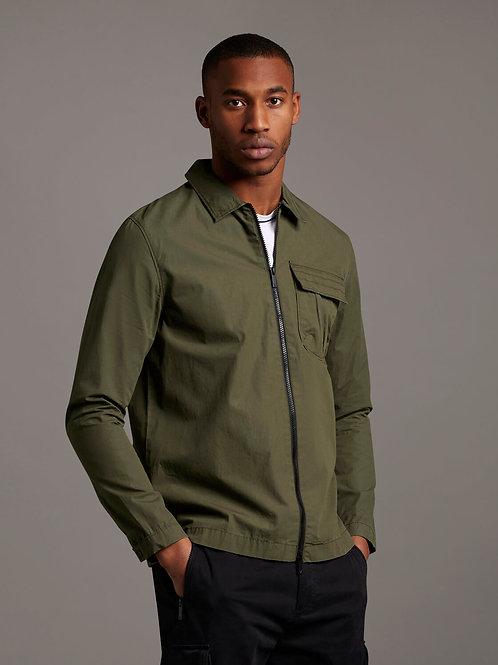 Zip trough overshirt verde
