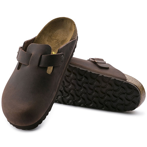 BIRKENSTOCK BOSTON HABANA olied leather