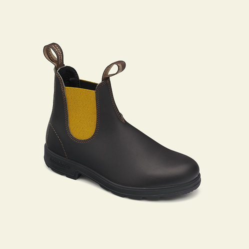 BLUNDSTONE #1919 brown leather mustard el.