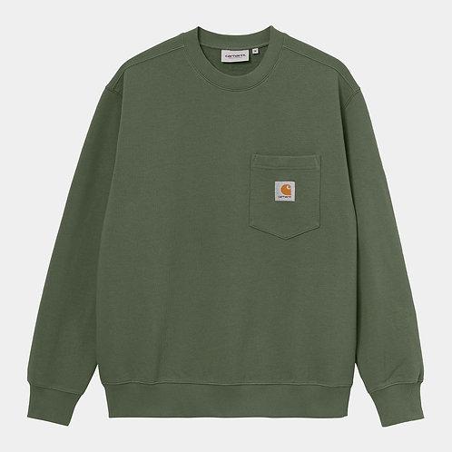 Pocket Sweatshirt dollar green