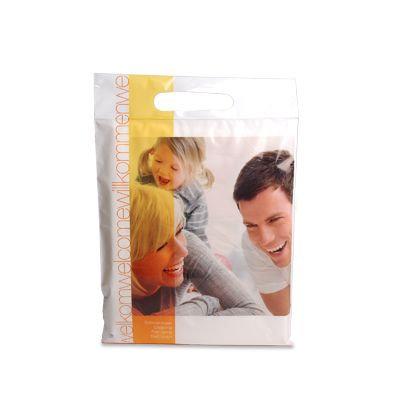 Pochette plastique imprimée avec poignée