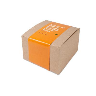 Boîte brune carrée