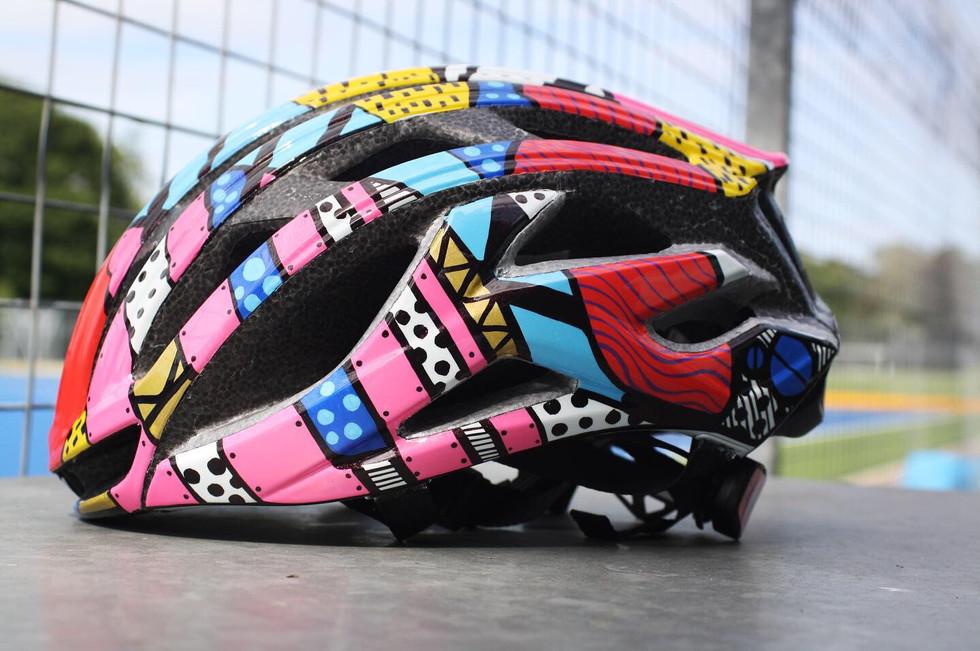 Custom road cycling helmet