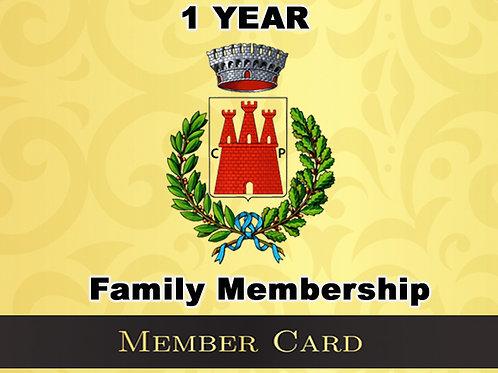 1 Year Family Membership