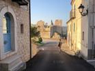 The town of Castropignano, Italy view of Castle D'Evoli