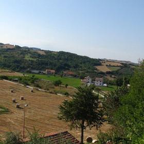 Landscape of Castropignano, Italy