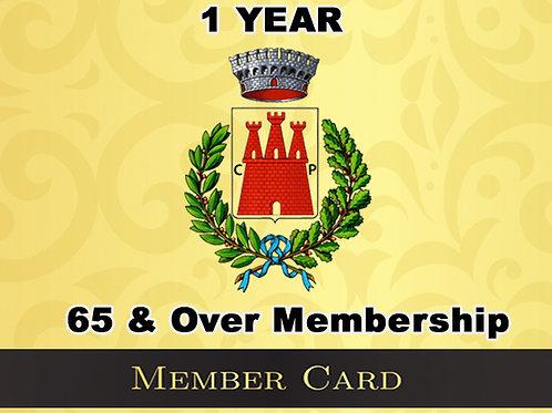 65 & Over 1 Year Membership