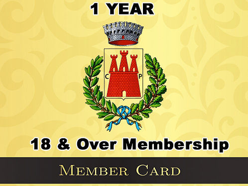 18 & Over 1 Year Membership
