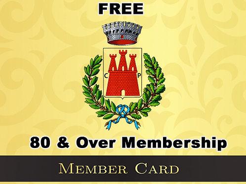 80 & Over FREE Membership