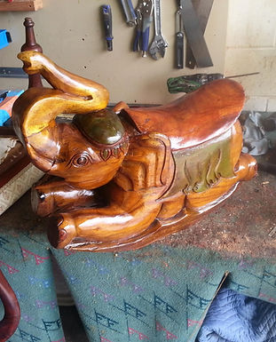 wood carving rocking