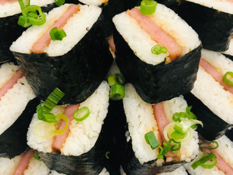 spam musubi in house party.jpg