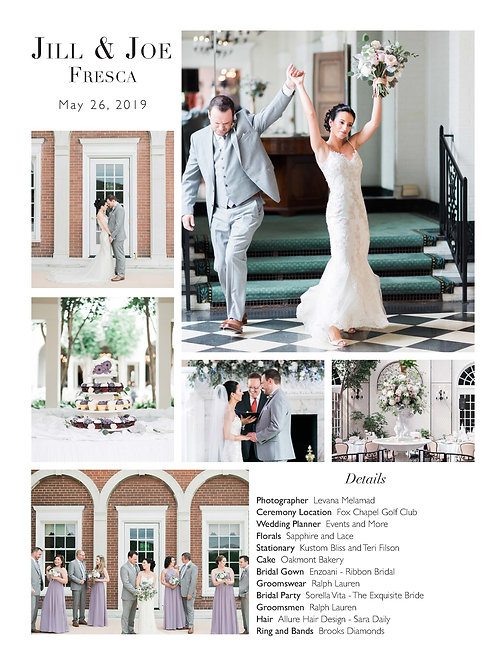 One Whirl Weddings Full Page Upgrade