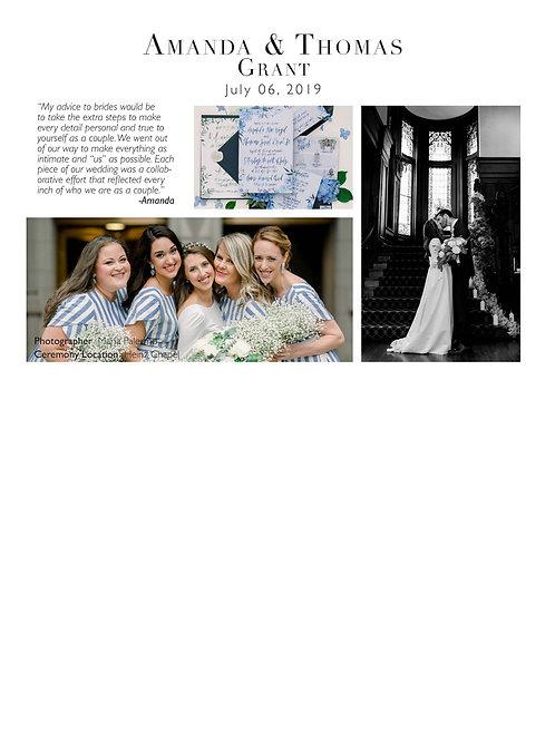One Whirl Weddings Half Page Upgrade