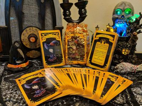 1  BOOK + 1 HALLOWEEN TAROT DECK + 1 ANGEL PENDULUM