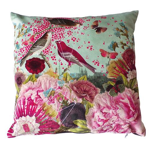 Pink Bird Cushion