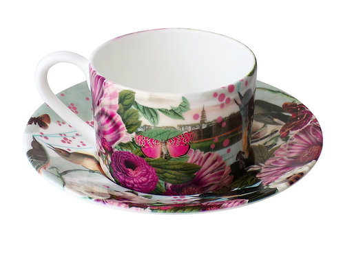 Birds and Butterflies • Coffee Cup and Saucer
