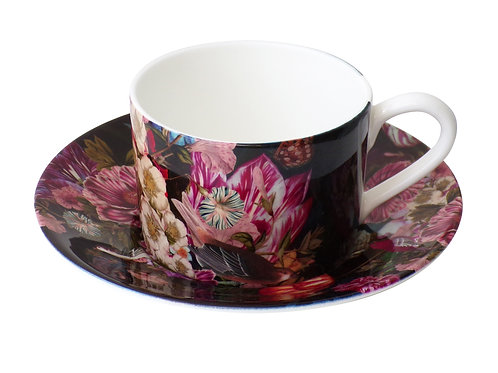 Somber Winter • Coffee Cup and Saucer