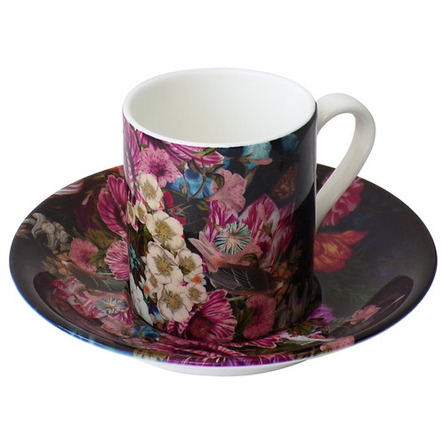 Somber Winter • Espresso Cup and Saucer