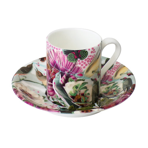 Bird and Butterflies • Espresso Cup and Saucer