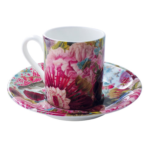 Pink Bird  • Espresso Cup and Saucer