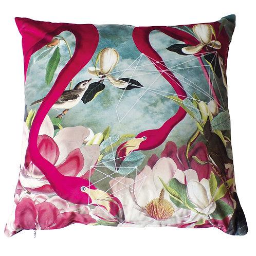Flamingo Flowers Cushion