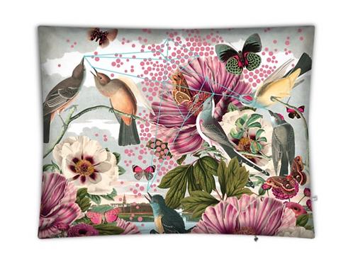 Birds and Butterflies Floor Cushion