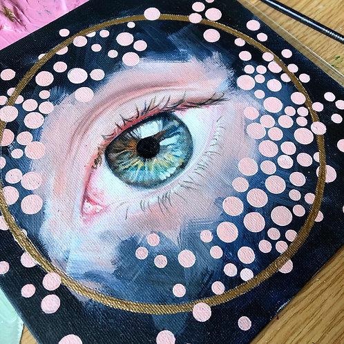 Oil Painted Sketch - eye