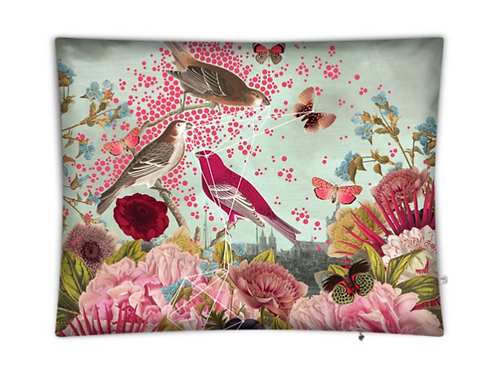 Pink Bird Floor Cushion