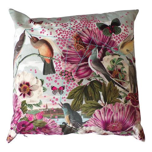 Birds and Butterflies Cushion