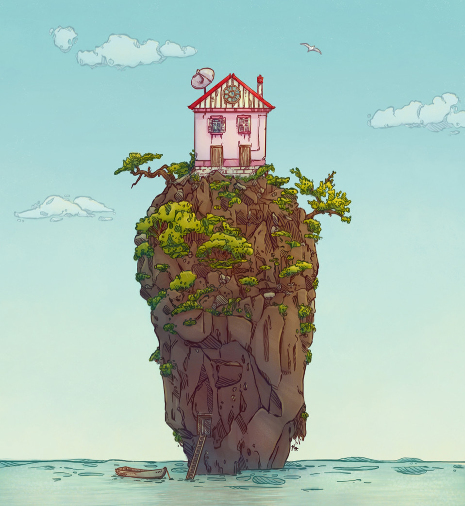 Petite maison sur la falaise