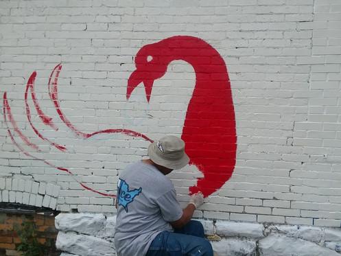 Creation of Sankofa Bird Mural
