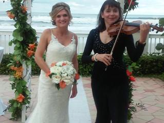 Daytona beach wedding in October of 2015