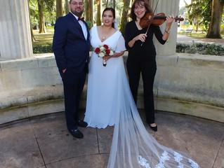 Gorgeous wedding in intimate atmosphere in Kraft Azalea Garden on November 9, 2019