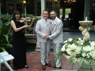 Wedding in Courtyard at Lake Lucerne in Orlando, FL on April 22, 2017