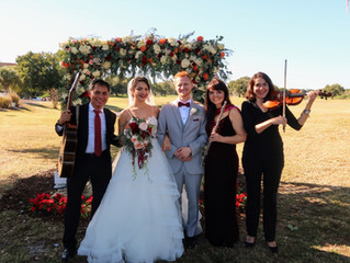 Up-scale wedding in Metro West Golf Club on December 8, 2019