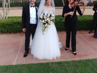Beautiful wedding outside of the Portofino Bay Hotel on November 2, 2019