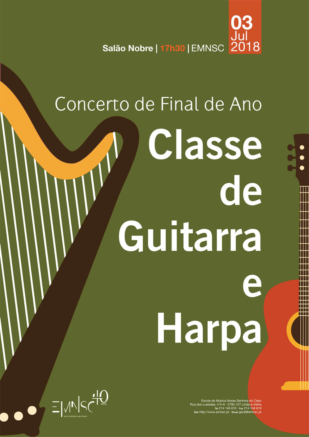 Classe de Guitarra e Harpa