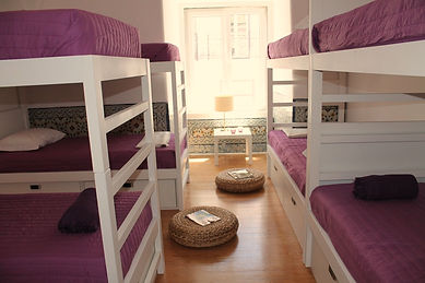 8 Bed Dorm in Lisbon Hostel