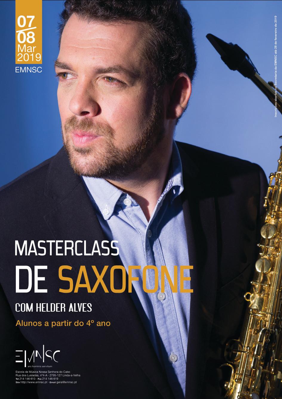 Masterclass de Saxofone com Hélder Alves