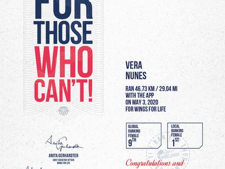 Vera Nunes, atleta do GFD Running na Wings for Life World Run