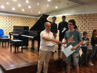 Fotorreportagem da masterclass de piano com o professor Fausto Neves