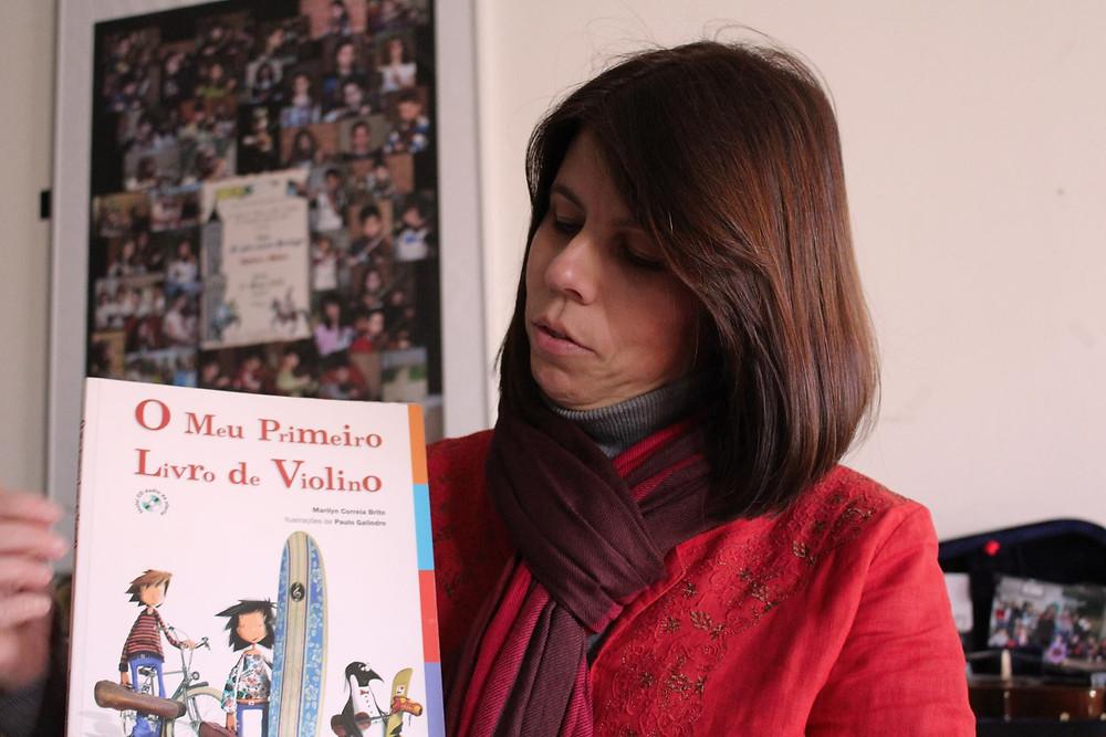 O meu primeiro livro de violino e Manuela Ferrer