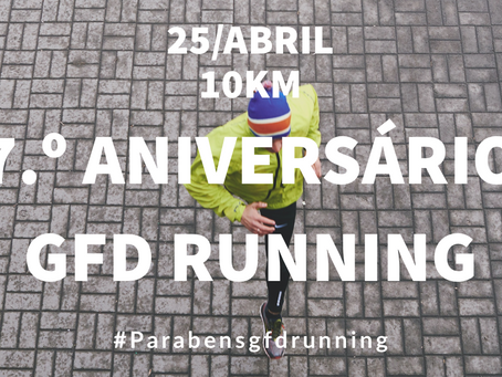 Participa no 7º aniversário do GFD Running