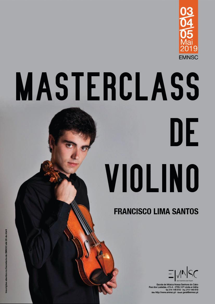 Masterclass de violino por Francisco Lima Santos