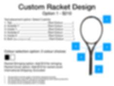 2020 Custom Racket Design options USD.00