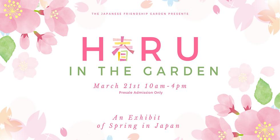 Haru in the Garden Exhibit