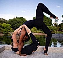 yoga photo in japanese garden arizona