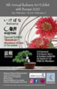 Ikebana Exhiibit wittj Bonsaii 2020 smal