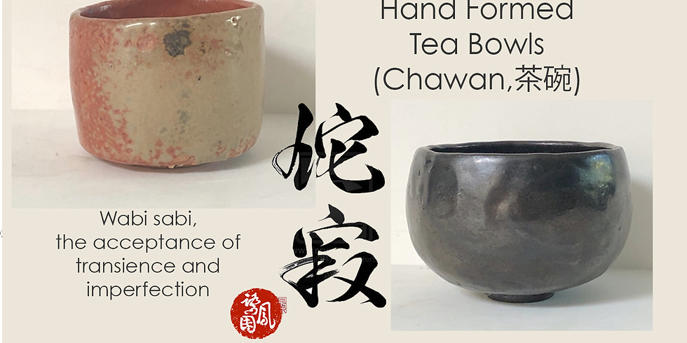 Wabi Sabi Pottery - Hand Formed Tea Bowls  10 AM (Sold out)
