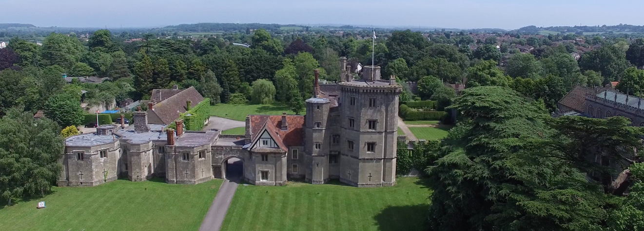 Drone view of Thornbury Castle